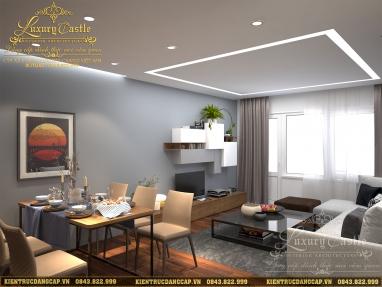 Mẫu thiết kế nội thất chung cư V-Tower hiện đại màu sắc thanh lịch