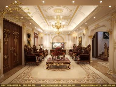Mẫu nội thất dinh thự 3 tầng hoành tráng full không gian rộng tại Nam Định