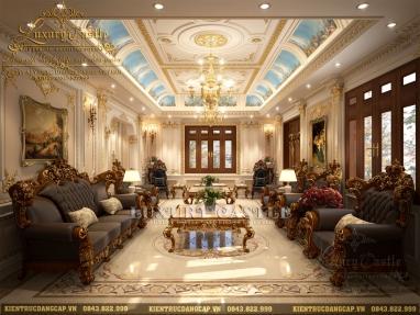 Mê đắm không rời mắt với mẫu nội thất phòng khách biệt thự cao cấp hoàn mỹ đến từng chi tiết