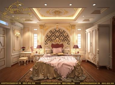 Ấn tượng với mẫu nội thất phòng ngủ phong cách hoàng gia đẳng cấp của lâu đài 6 tầng tại Vũng Tàu