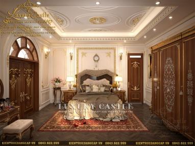 Combo 3 phòng ngủ tân cổ điển Pháp xuyệt tone tuyệt mỹ dinh thự 4 tầng tại Nam Định