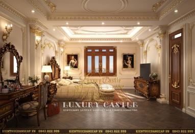 Mê đắm vẻ đẹp vương giả của mẫu nội thất phòng ngủ Master dinh thự đẳng cấp tại Nam Định