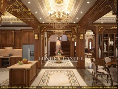 Chiêm ngưỡng nội thất dinh thự 100% gỗ gõ quý tại Hải Dương