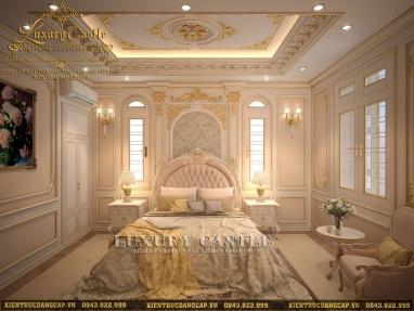 Mê đắm với vẻ đẹp quý tộc của mẫu nội thất phòng ngủ người lớn tuổi trong siêu lâu đài 6 tầng tại Vũng Tàu