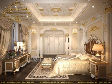 Phân tích vẻ đẹp 4 mẫu nội thất phòng ngủ cổ điển lâu đài hoành tráng tại Sài Gòn