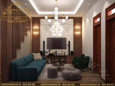 Mẫu nội thất phòng khách nhà ống chuẩn phong thủy vượng khí tài lộc cho gia chủ