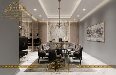 Combo nội thất phòng bếp và 2 phòng ăn lớn - nhỏ với 2 mục đích đón khách chuyên biệt