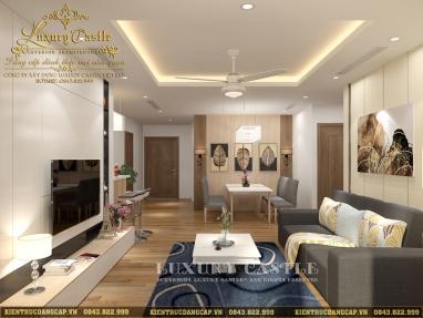 Mẫu nội thất chung cư 2 phòng ngủ hiện đại tiện nghi chỉ 200 triệu tại Hà Nội