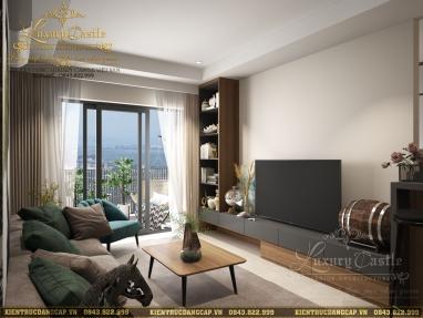Đón lộc tài với mẫu thiết kế nội thất phòng khách hiện đại chuẩn phong thủy tại Hà Nội