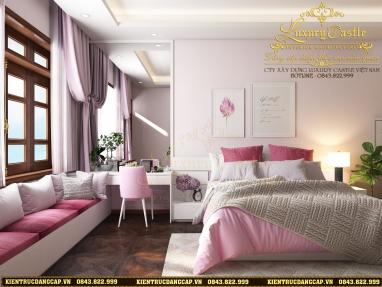 Ngỡ ngàng vẻ đẹp hồn nhiên yêu đười được phác họa trong nội thất phòng ngủ bé gái