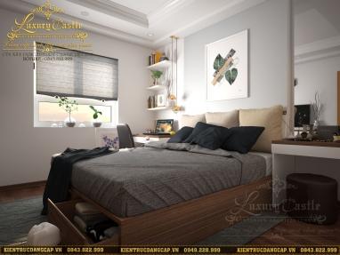 Mẫu nội thất phòng ngủ Master hiện đại đẹp mê ly tại Hà Nội