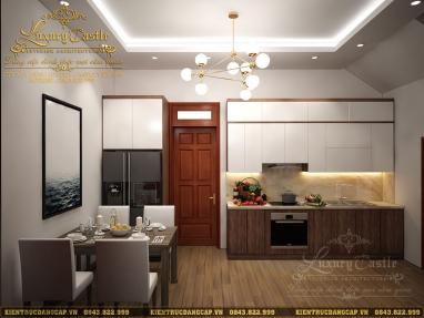 Ấn tượng với nội thất phòng bếp ăn nhà ống hiện đại thông minh tiện nghi