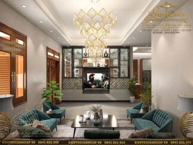 Mẫu nội thất phòng khách biệt thự hiện đại tại Hưng Yên dẫn đầu xu hướng 2021
