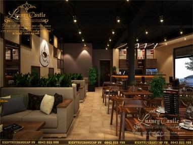 Thiết kế nội thất quán cafe hiện đại lịch lãm tại Hải Dương