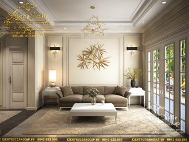 Thiết kế nội thất biệt thự song lập tân cổ điển 3 tầng nhẹ nhàng đẳng cấp