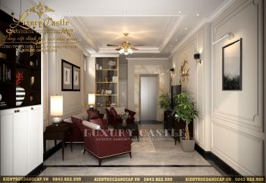 Sang trọng với mẫu nội thất nhà phố tân cổ điển 3 tầng đẹp tại Hà Nội