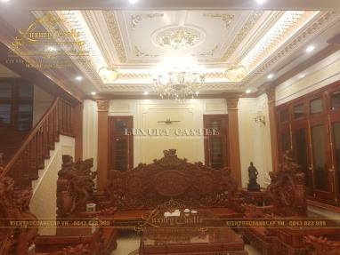 Thi công hoàn thiện nội thất dinh thự tân cổ điển đẳng cấp tại Hải Dương
